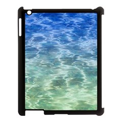Water Blue Transparent Crystal Apple Ipad 3/4 Case (black)