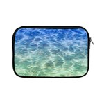 Water Blue Transparent Crystal Apple iPad Mini Zipper Cases Front