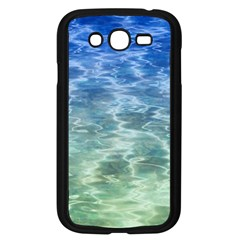 Water Blue Transparent Crystal Samsung Galaxy Grand Duos I9082 Case (black)