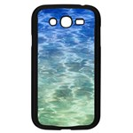 Water Blue Transparent Crystal Samsung Galaxy Grand DUOS I9082 Case (Black) Front