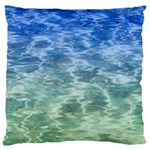 Water Blue Transparent Crystal Large Flano Cushion Case (One Side) Front