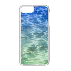 Water Blue Transparent Crystal Iphone 7 Plus Seamless Case (white)