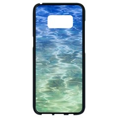 Water Blue Transparent Crystal Samsung Galaxy S8 Black Seamless Case
