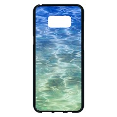Water Blue Transparent Crystal Samsung Galaxy S8 Plus Black Seamless Case