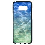 Water Blue Transparent Crystal Samsung Galaxy S8 Plus Black Seamless Case Front