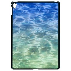 Water Blue Transparent Crystal Apple Ipad Pro 9 7   Black Seamless Case
