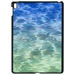 Water Blue Transparent Crystal Apple iPad Pro 9.7   Black Seamless Case Front