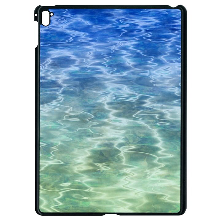 Water Blue Transparent Crystal Apple iPad Pro 9.7   Black Seamless Case
