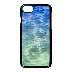 Water Blue Transparent Crystal Iphone 8 Seamless Case (black)