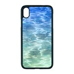 Water Blue Transparent Crystal iPhone XR Seamless Case (Black) Front