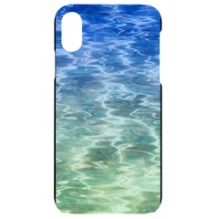 Water Blue Transparent Crystal Iphone Xr Black Uv Print Case