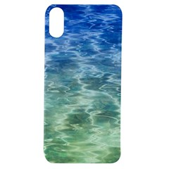Water Blue Transparent Crystal Apple Iphone Xs Tpu Uv Case