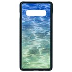Water Blue Transparent Crystal Samsung Galaxy S10 Plus Seamless Case (Black) Front