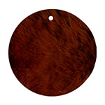 Fur Skin Bear Ornament (Round) Front