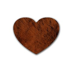 Fur Skin Bear Heart Coaster (4 Pack)