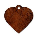 Fur Skin Bear Dog Tag Heart (One Side) Front