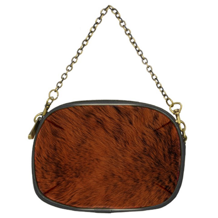 Fur Skin Bear Chain Purse (Two Sides)