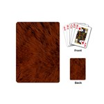 Fur Skin Bear Playing Cards Single Design (Mini) Back