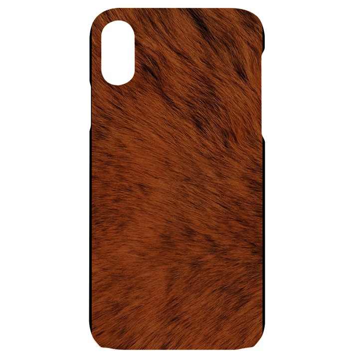 Fur Skin Bear iPhone XR Black UV Print Case