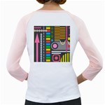 Pattern Geometric Abstract Colorful Arrows Lines Circles Triangles Girly Raglan Back