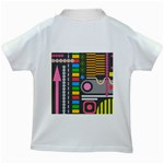 Pattern Geometric Abstract Colorful Arrows Lines Circles Triangles Kids White T-Shirts Back
