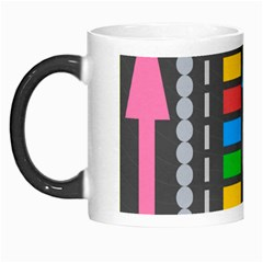 Pattern Geometric Abstract Colorful Arrows Lines Circles Triangles Morph Mugs