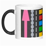 Pattern Geometric Abstract Colorful Arrows Lines Circles Triangles Morph Mugs Left