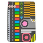 Pattern Geometric Abstract Colorful Arrows Lines Circles Triangles Removable Flap Cover (L) Front