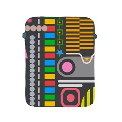 Pattern Geometric Abstract Colorful Arrows Lines Circles Triangles Apple Ipad 2/3/4 Protective Soft Cases by Vaneshart