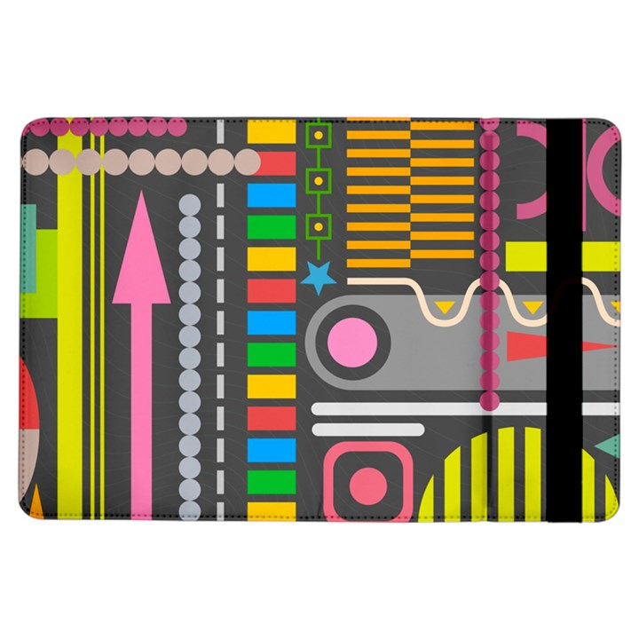 Pattern Geometric Abstract Colorful Arrows Lines Circles Triangles iPad Air Flip