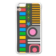 Pattern Geometric Abstract Colorful Arrows Lines Circles Triangles Iphone 6 Plus/6s Plus Enamel White Case