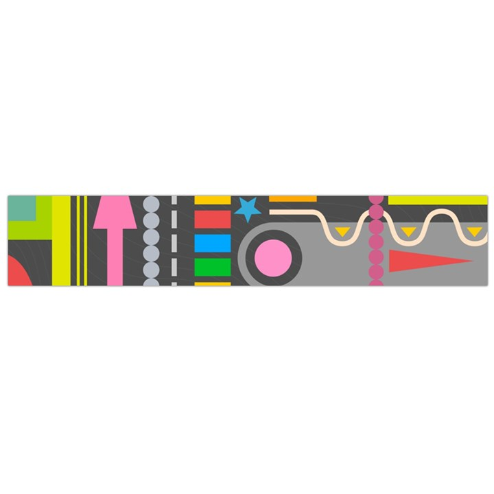 Pattern Geometric Abstract Colorful Arrows Lines Circles Triangles Large Flano Scarf