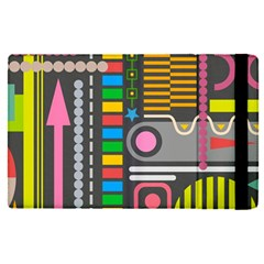 Pattern Geometric Abstract Colorful Arrows Lines Circles Triangles Apple Ipad Pro 9 7   Flip Case
