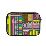 Pattern Geometric Abstract Colorful Arrows Lines Circles Triangles Apple MacBook Pro 15  Zipper Case Front