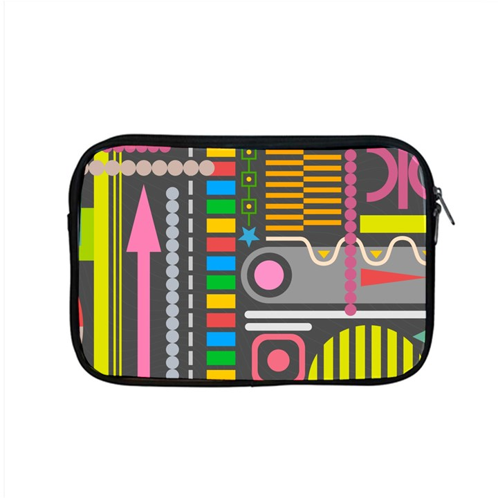 Pattern Geometric Abstract Colorful Arrows Lines Circles Triangles Apple MacBook Pro 15  Zipper Case