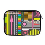 Pattern Geometric Abstract Colorful Arrows Lines Circles Triangles Apple MacBook Pro 17  Zipper Case Front