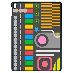 Pattern Geometric Abstract Colorful Arrows Lines Circles Triangles Apple Ipad Pro 9 7   Black Seamless Case
