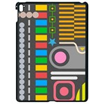 Pattern Geometric Abstract Colorful Arrows Lines Circles Triangles Apple iPad Pro 9.7   Black Seamless Case Front