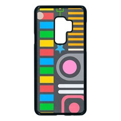 Pattern Geometric Abstract Colorful Arrows Lines Circles Triangles Samsung Galaxy S9 Plus Seamless Case(black)