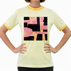 Vibrant Tropical Dot Patterns Women s Fitted Ringer T Shirt by Vaneshart