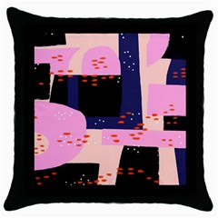 Vibrant Tropical Dot Patterns Throw Pillow Case (black)