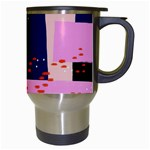 Vibrant Tropical Dot Patterns Travel Mugs (White) Right