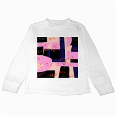 Vibrant Tropical Dot Patterns Kids Long Sleeve T Shirts by Vaneshart