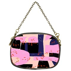 Vibrant Tropical Dot Patterns Chain Purse (one Side)
