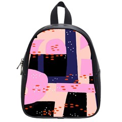 Vibrant Tropical Dot Patterns School Bag (small) by Vaneshart