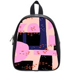 Vibrant Tropical Dot Patterns School Bag (Small) Front