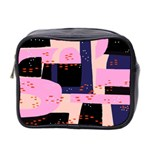 Vibrant Tropical Dot Patterns Mini Toiletries Bag (Two Sides) Front