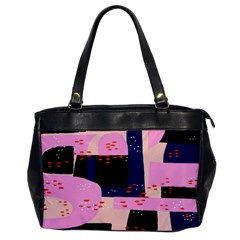 Vibrant Tropical Dot Patterns Oversize Office Handbag