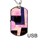 Vibrant Tropical Dot Patterns Dog Tag USB Flash (One Side) Front