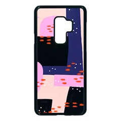 Vibrant Tropical Dot Patterns Samsung Galaxy S9 Plus Seamless Case(black)